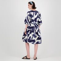 Rey Brushstroke Print Dress -  dc5700