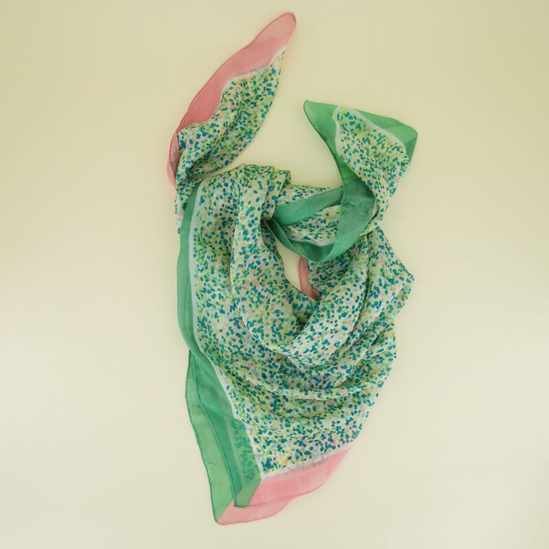 Leana Abstract Dot Silk Scarf -  dc9900