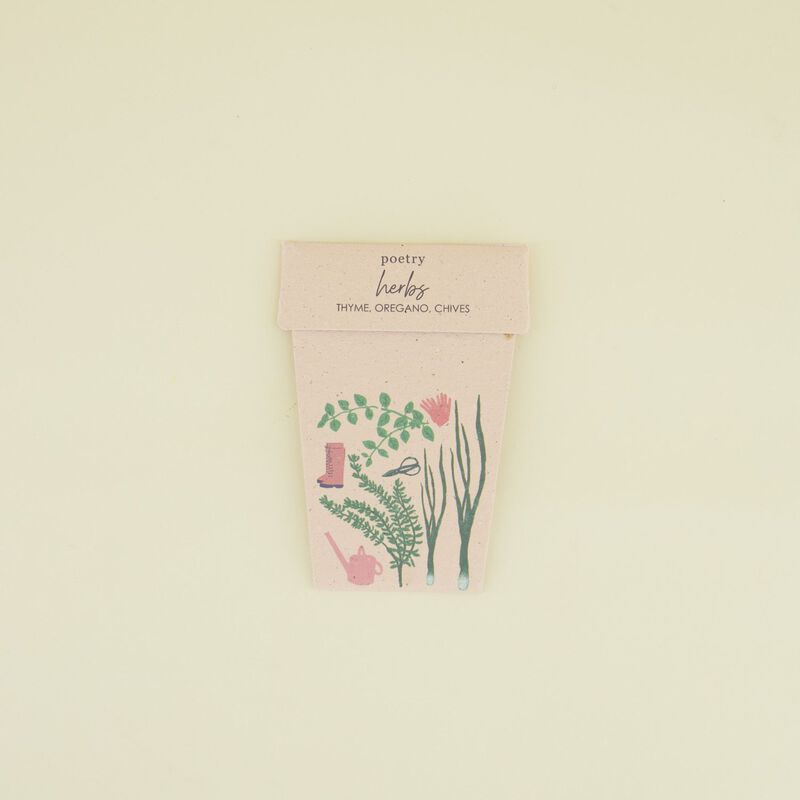 Herb Two Pot Card -  c99