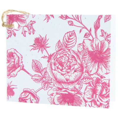 Red Floral Tag