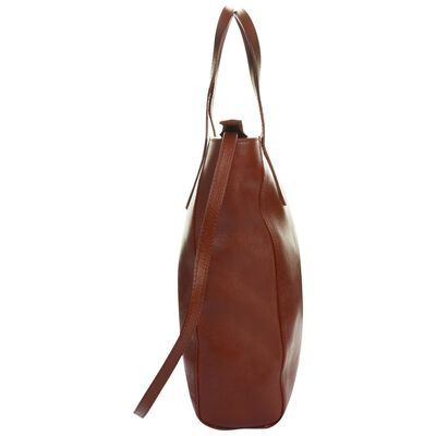 Kristy Structured Leather Shopper