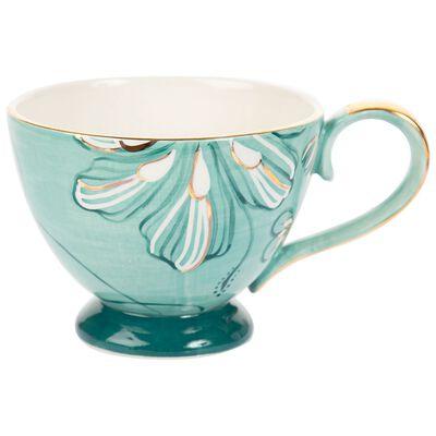 Kapula Sage & Gold Floral Mug