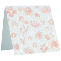 Pink and Gold Blossom Square Card -  pink-gold