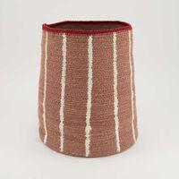 Rust & Milk Fine Weave Basket -  rust-milk