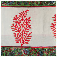 Red and Blue Tablecloth -  red-blue