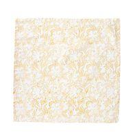 Blockprinted Napkin Set of 4 -  rust-white